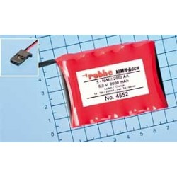 Aviotiger Batteria per Ricevente 6V 5NiMH 2000 Piatta (art. 4552)