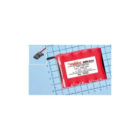 Aviotiger Batteria per Ricevente 6V 5NiMH 2000 Piatta (art 4552)
