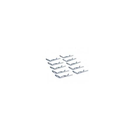 HobbyPro Clips carrozzeria grandi 1/8 10 pezzi (art. H131)
