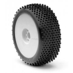 AKA Gomme 1/8 Buggy CROSS BRACE LONG WEAR Soft su cerchio (art. 14004XRW)