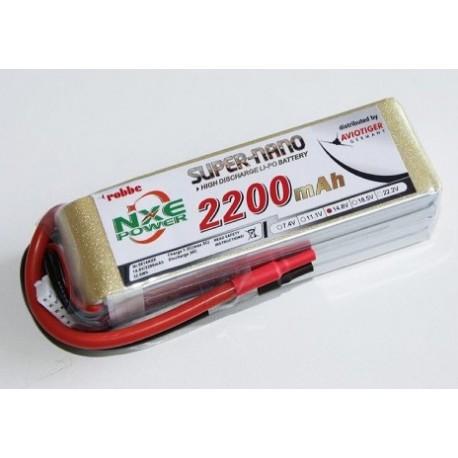 Aviotiger Batteria Li-po 14,8V 2200mAh 30C 4S (art. 6614NXE)