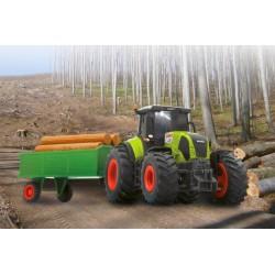 Jamara Trattore Agricolo CLAAS Axion 850 1/28 con rimorchio (art. 403702)