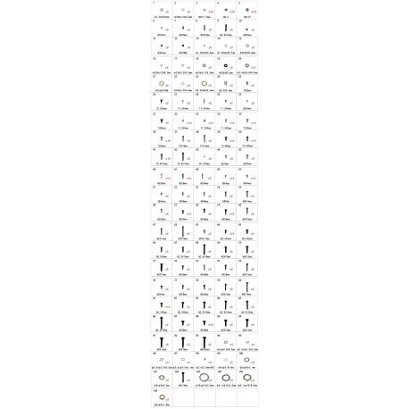Align Set completo Hardware Bag per T-Rex 250-500 (art. H45168)