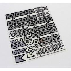 Kyosho Foglio adesivi KYOSHO Cromati 235x210mm (art. 36277)