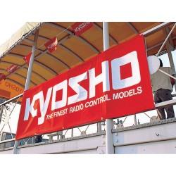 Kyosho Striscione Kyosho rosso / bianco 1800x600mm (art. 87001)