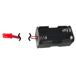Jamara Porta batterie ricevente 4 Stilo spina BEC Rossa (art. 090015)