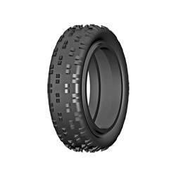 GRP Tyres Coppia gomme ANTERIORI 2WD 1/10 BU BULDOG B Medium Senza Inserto (art. GN10B)