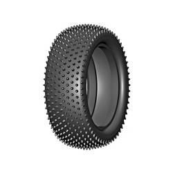 GRP Tyres Coppia gomme ANTERIORI 4WD 1/10 BU CONIC B Medium Senza Inserto (art. GN20B)