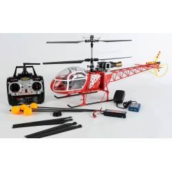 Carson Maxi Elicottero elettrico Lama SA 315B Air Zermatt 2,4 GHz 100% RTF 1/12 (art. 500507041)
