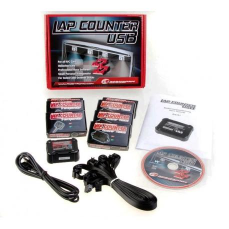 Robitronic Lap Counter USB Sytem con 3 Transponder (art. RS161)