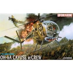 Dragon Models Elicottero OH-6A Cayuse con equipaggio Kit scala 1/35 (art. DR3310)