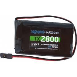 Radiosistemi Batteria Li-Po Maxpro 7,4V 2800mAh 5C per trasmettitori Futaba (art. MAX2048L)