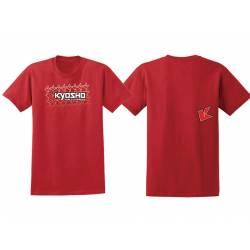 Kyosho T-Shirt Rossa K-FADE 2.0 Taglia Medium (art. 88002M)