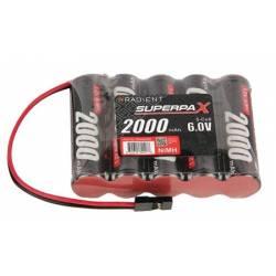 Radiosistemi Batteria Superpax 6V 2000mAh NiMH AA Rx JR FLAT (art. RDNA0200)