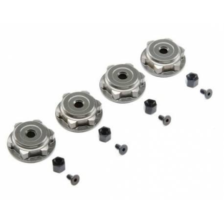 Team Losi Set dadi ruota in alluminio per 8B / 8E / 8T (art. TLR342007)