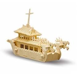 Siva Dragon Boat in legno da costruire (art. 875)