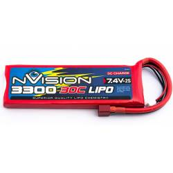 nVision Batteria Li-po 7,4V 3300mAh 30C (art. NVO1805)