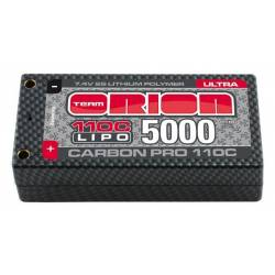 Team Orion Batteria Li-po Carbon Pro Ultra 5000mAh 110C 7,4V Shorty Pack Tubes (art. ORI14083)