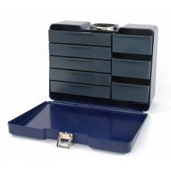 Robitronic Valigia Blu porta attrezzi con 8 cassetti (art. R14020B)