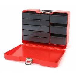 Robitronic Valigia Rossa porta attrezzi con 8 cassetti (art. R14020R)