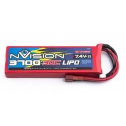 nVision Batteria Li-po 7,4V 3700mAh 30C (art. NVO1806/1)