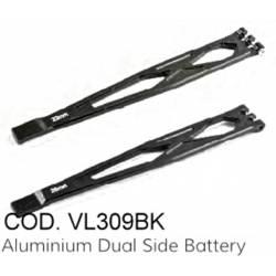 Ferma batterie in Alluminio per TRX-4 (art. VL309BK)