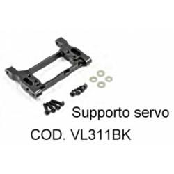 Supporto servocomando sterzo in Alluminio per TRX-4 (art. VL311BK)