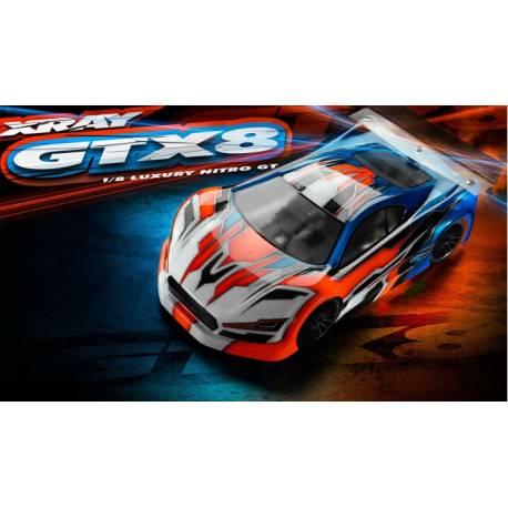 Xray Automodello GTX8 1/8 Luxury Nitro On-Road GT Car Kit (art. 350500)