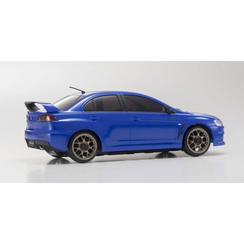 Mitsubishi Evo X Blue: Kyosho Mini-Z Mitsubishi Lancer EVO-X MA020 Sports AWD