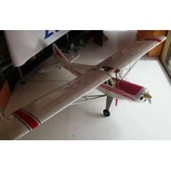 """OCCASIONE Aeromodello Piper PA 18 - 84"""" con Motore a benzina e Servocomandi"""
