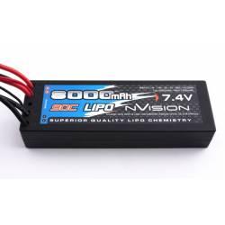 nVision Batteria Li-po Factory Pro 2S 7,4V 8000mAh 90C Deans (art. NVO1114)