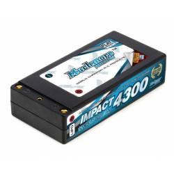 Muchmore Batteria Li-Po IMPACT LTG Max-Punch FD2 4300mAh 7,4V 120C Shorty Flat Hard Case (art. MLI-STLCG4300MP)