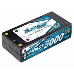 Muchmore Batteria Li-Po IMPACT FD2 Li-Po Battery 5000mAh 7,4V 110C Shorty Flat Hard Case (art. MLI-ST5000FD2)