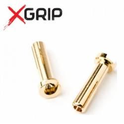 X-GRIP Connettori da 4mm Maschi confezione da 2 pezzi (art. X-GRIP-9010)