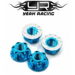 Yeah Racing Dadi Ruota Flangiati M4 EXTRA light Blu chiaro (art. YA-0448LB)