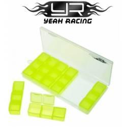 Yeah Racing Contenitore multi funzione 179x80x20mm con scomparti per minuterie (art. YA-0323)
