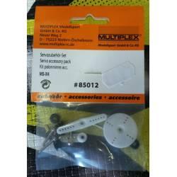 Multiplex Squadrette servo in plastica per MS-X4 (art. 85012)