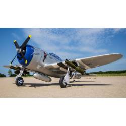 E-flite Aeromodello P-47 Razorback 1200mm BNF Basic con AS3X e SAFE Select (art. EFL8450)