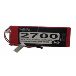 Kair Rc Batteria Ricevitore Li-po 7,4V 2700mAh 30C (art. SAF07103)
