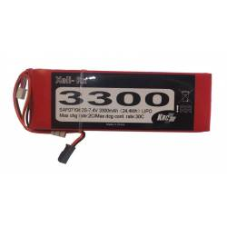 Kair Rc Batteria Ricevitore Li-po 7,4V 3300mAh 30C (art. SAF07104)
