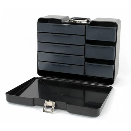 Robitronic Valigia Nera porta attrezzi con 8 cassetti (art. R14020S)