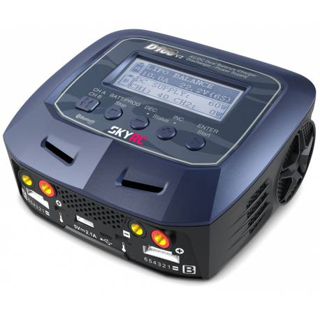 SkyRC Caricabatterie D100 V2 AC/DC LiPo 1-6s 10A 100W Charger (art. SK100131)