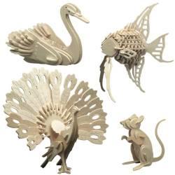 Siva Set animali domestici in legno da costruire (art. 852)
