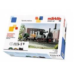 Marklin Confezione di avvio con Locomotiva, carro a sponde a cassone ribaltabile 230 volt (art. 29173)