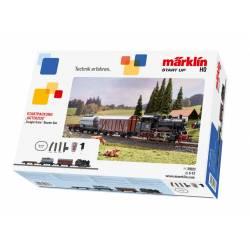 Marklin Confezione di avvio con Treno merci con carri da trasporto 230 volt (art. 29323)