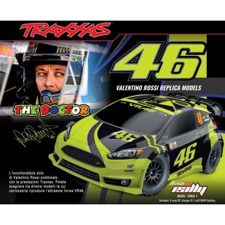 Traxxas Automodello Ford Fiesta ST Rally 4WD scala 1/10 Valentino Rossi VR46 (art. TXX74064-1VR46)
