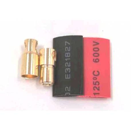 Maxpro Coppia connettore gold 6mm dorato con termoretraibile (art. MAXCP10)