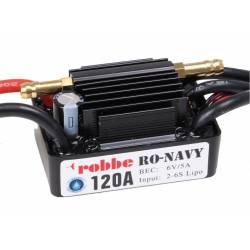 Robbe Regolatore marino NAVY Control Brushless per Lipo 2-6S 120A BEC 6V (art. 8723)