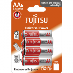 Siva Toys Blister 4 batterie Alkaline a stilo tipo AA 1,5 V Fujitsu LR6 (art. 135797)