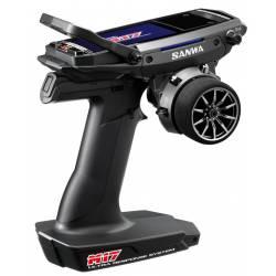 Sanwa Radiocomando Car M17 2,4Ghz FH5 Ultra Response Mode (SUR) con ricevente RX-491 (art. S.101A32471A)